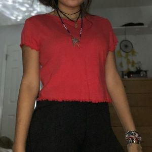 red pacsun top